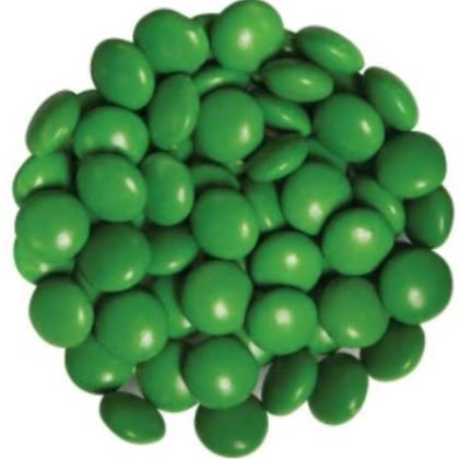 Candy Drops Chocolate Green Dark 1 lb