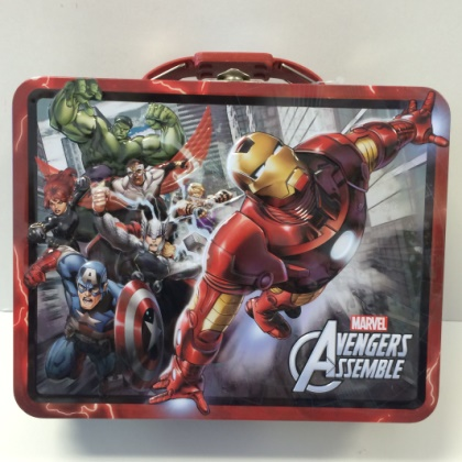 Marvel Avengers Assemble Red Embossed Lunch Box