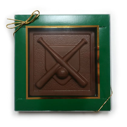 Baseball Plaque Solid Milk Chocolate