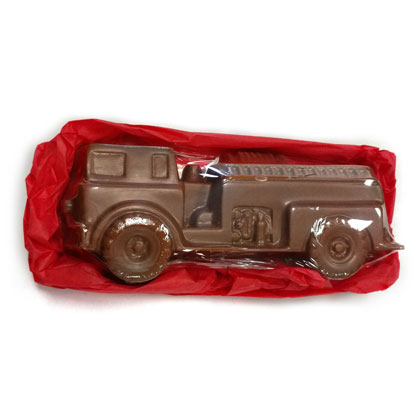 Fire Truck Solid Milk Chocolate