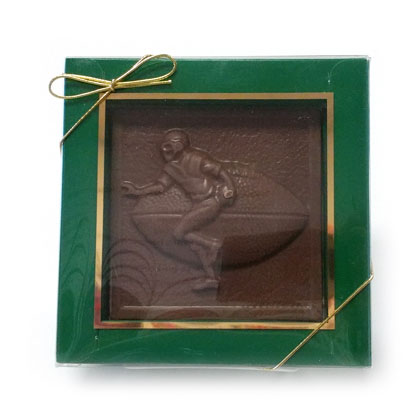 Football Plaque Solid Milk Chocolate