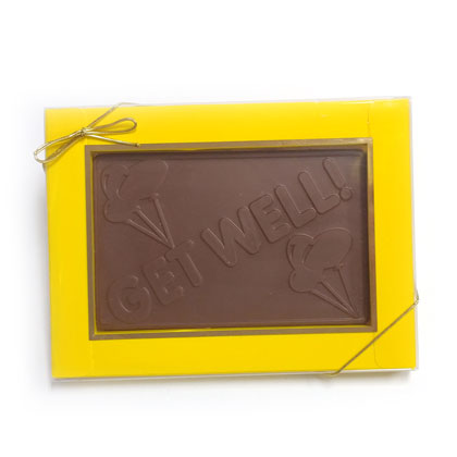 Get Well Card Solid Milk Chocolate