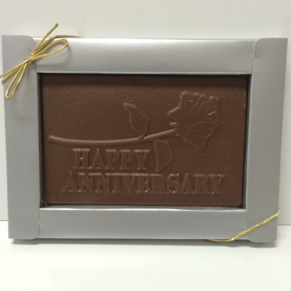 Happy Anniversary Card Solid Milk Chocolate