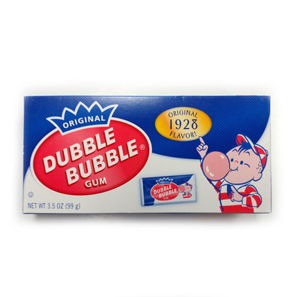 Dubble Bubble Original Gum Box