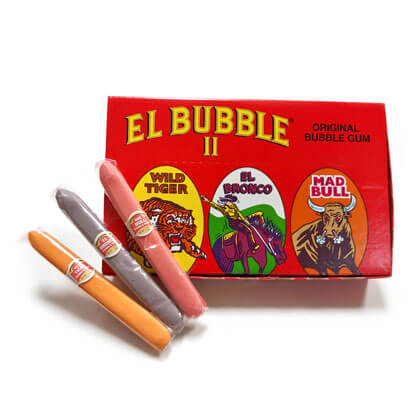 Bubble Gum Cigars El Bubble II Assorted 36 ct