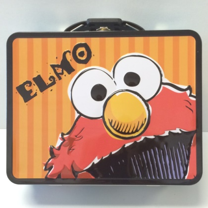 Sesame Street Elmo Striped Embossed Lunch Box