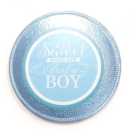 Its a Boy Giant Chocolate Foil Wrapped Coin