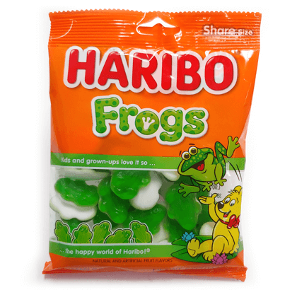 Gummi Frogs Imported 5 oz