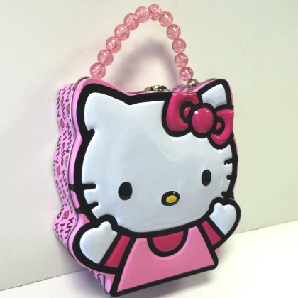 Hello Kitty Die Cut Embossed Lunch Box Purse
