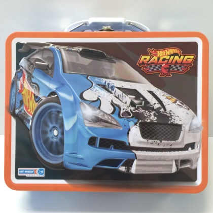 Hot Wheels Racing Embossed Lunch Box