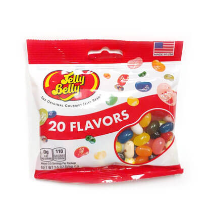 Jelly Belly 20 Assorted Flavors Peg Bag
