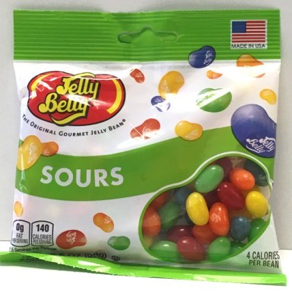 Jelly Belly Sours Mix Jelly Beans Peg Bag