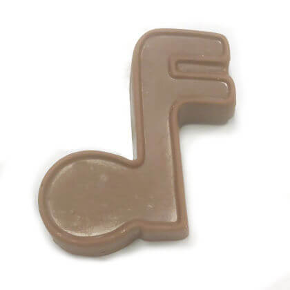Music Note Solid Milk Chocolate 2 oz