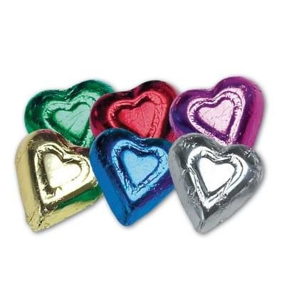 Hearts Assorted Foiled Solid Milk Chocolate 5 oz