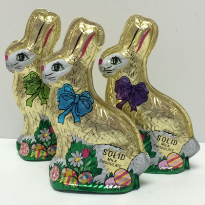 Solid Gold Foiled Milk Chocolate Bunny 6 oz