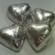 Hearts Silver Foiled Milk Chocolate 7 oz