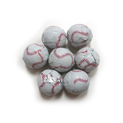 Baseballs Foiled Solid Milk Chocolate 6 oz