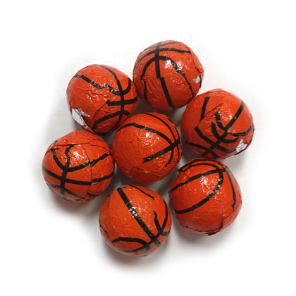 Basketballs Foiled Solid Milk Chocolate 6 oz