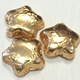 Stars Foiled Gold Solid Milk Chocolate 5 oz