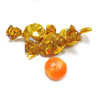 Foil Buttons Gold Orange 1 lb