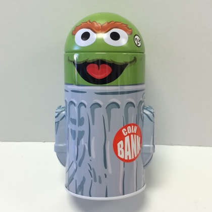 Oscar the Grouch Head Shaped Bank