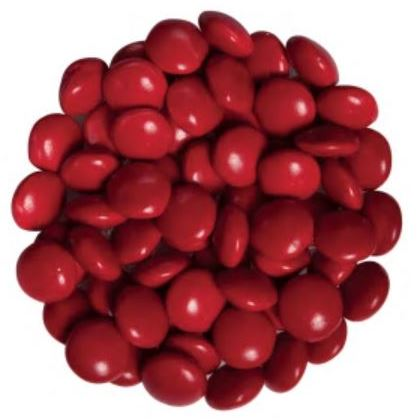 Candy Drops Chocolate Red 1 lb