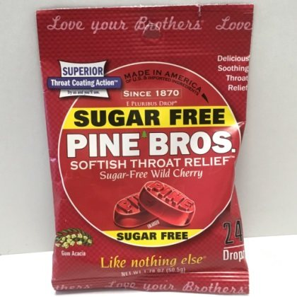 Pine Brothers Throat Drop Sugar Free Wild Cherry Bag