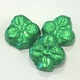 Shamrocks Green Foiled Solid Milk Chocolate 5 oz