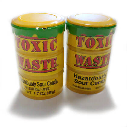 Toxic Waste Sour Candy Drums 2 ct