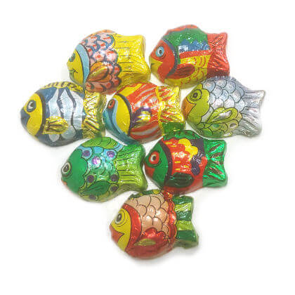 Tropical Fish Foiled Solid Milk Chocolate 5 oz