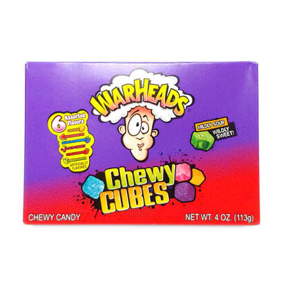 Warheads Chewy Cubes Theater Box