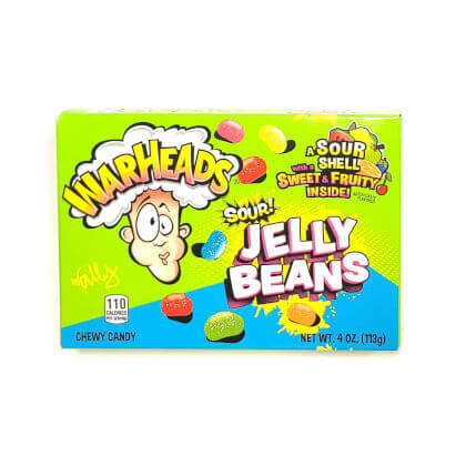 Warheads Sour Jelly Beans Theater Box