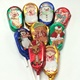 Christmas Foiled Assorted Lollipops Solid Milk Chocolate 5 ct